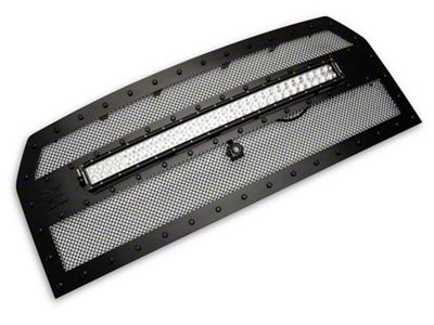 T-REX Stealth Torch Series Upper Replacement Grille w/ 30 in. LED Light Bar - Black (15-17 F-150 w/ Forward Facing Camera)