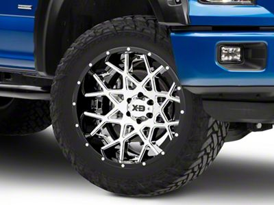 XD Chopstix Chrome w/ Gloss Black Milled Lip 6-Lug Wheel - 22x12 (04-19 F-150)