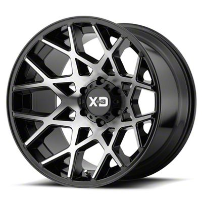 XD Chopstix Gloss Black Machined 6-Lug Wheel - 22x12 (04-19 F-150)