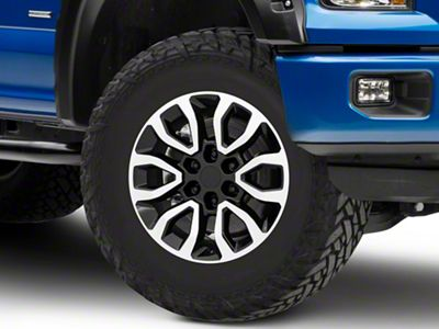 Gen2 Raptor Style Black Machined 6-Lug Wheel - 18x9 (04-19 F-150)