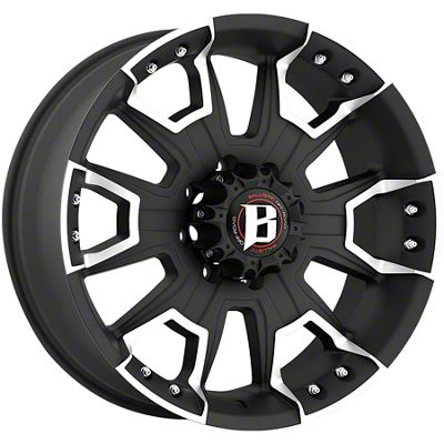 Ballistic Havoc Flat Black Machined 6-Lug Wheel - 20x9 (04-19 F-150)