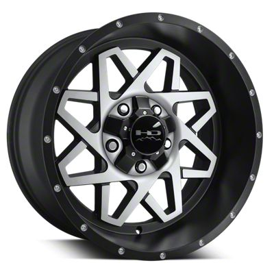 HD Wheels Gridlock Satin Black Machined 6-Lug Wheel - 20x10 (04-19 F-150)