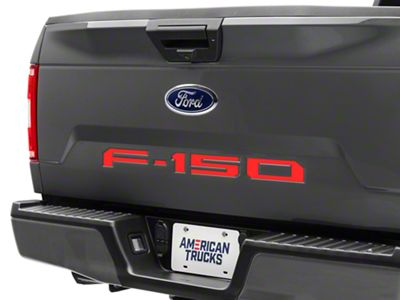 Red Tailgate Insert Letters (18-19 F-150)