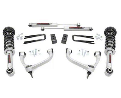 Rough Country 3 in. Bolt-On Suspension Lift Kit w/ Upper Control Arms (09-13 4WD F-150, Excluding Raptor)