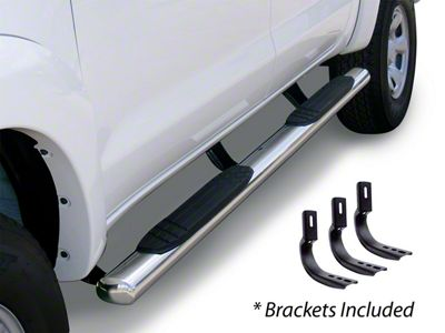 Go Rhino 4 in. OE Xtreme Side Step Bars - Stainless Steel (04-14 F-150 SuperCrew)