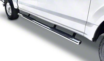 Go Rhino 4 in. OE Xtreme Side Step Bars - Stainless Steel (15-19 F-150 SuperCrew)
