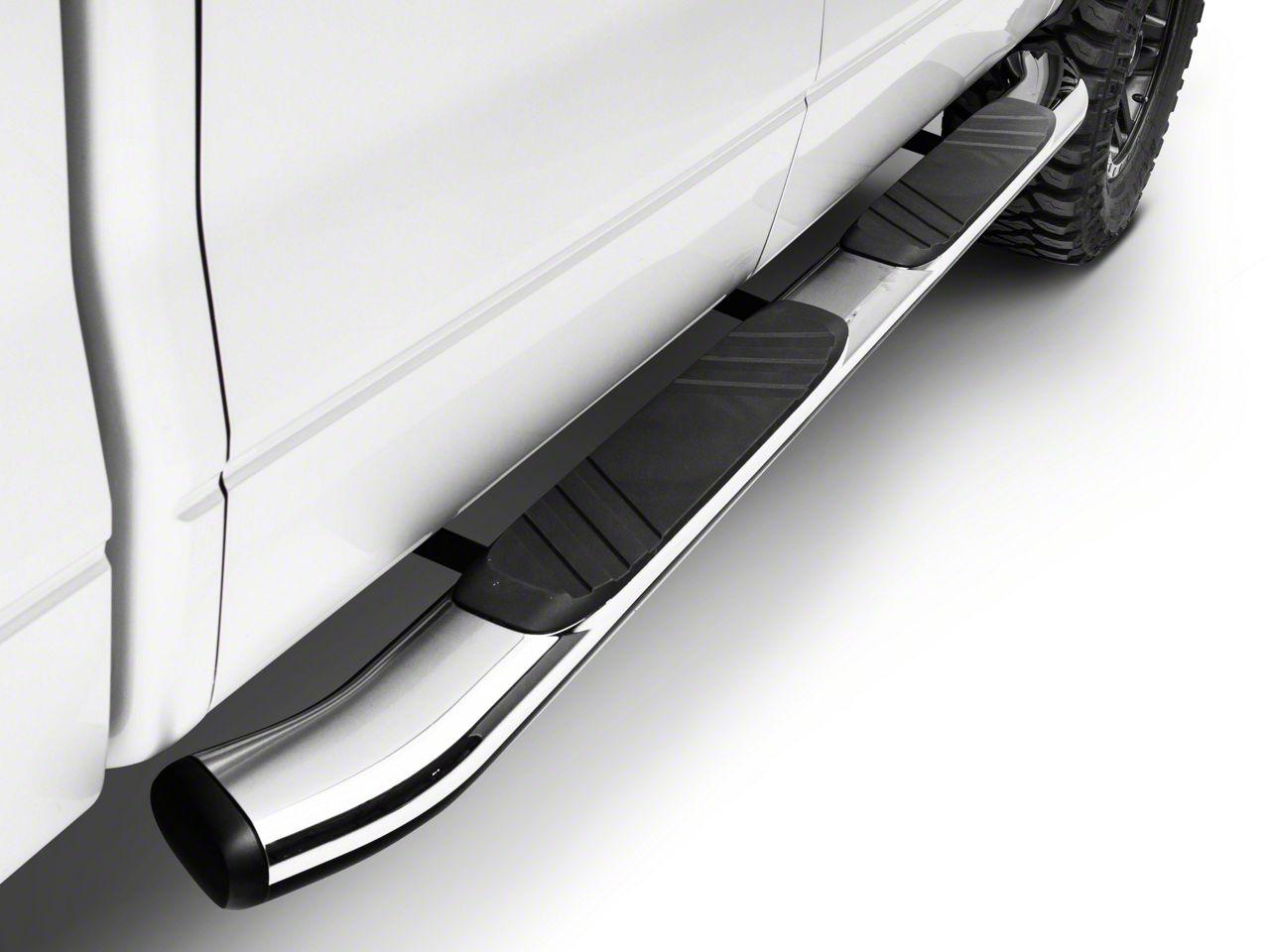 Go Rhino 5 in. OE Xtreme Composite Side Step Bars - Chrome (04-14 F-150 SuperCrew)