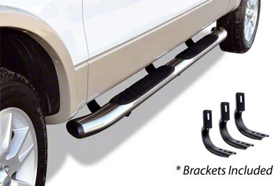 Go Rhino 5 in. OE Xtreme Composite Side Step Bars - Chrome (15-19 F-150 SuperCab)