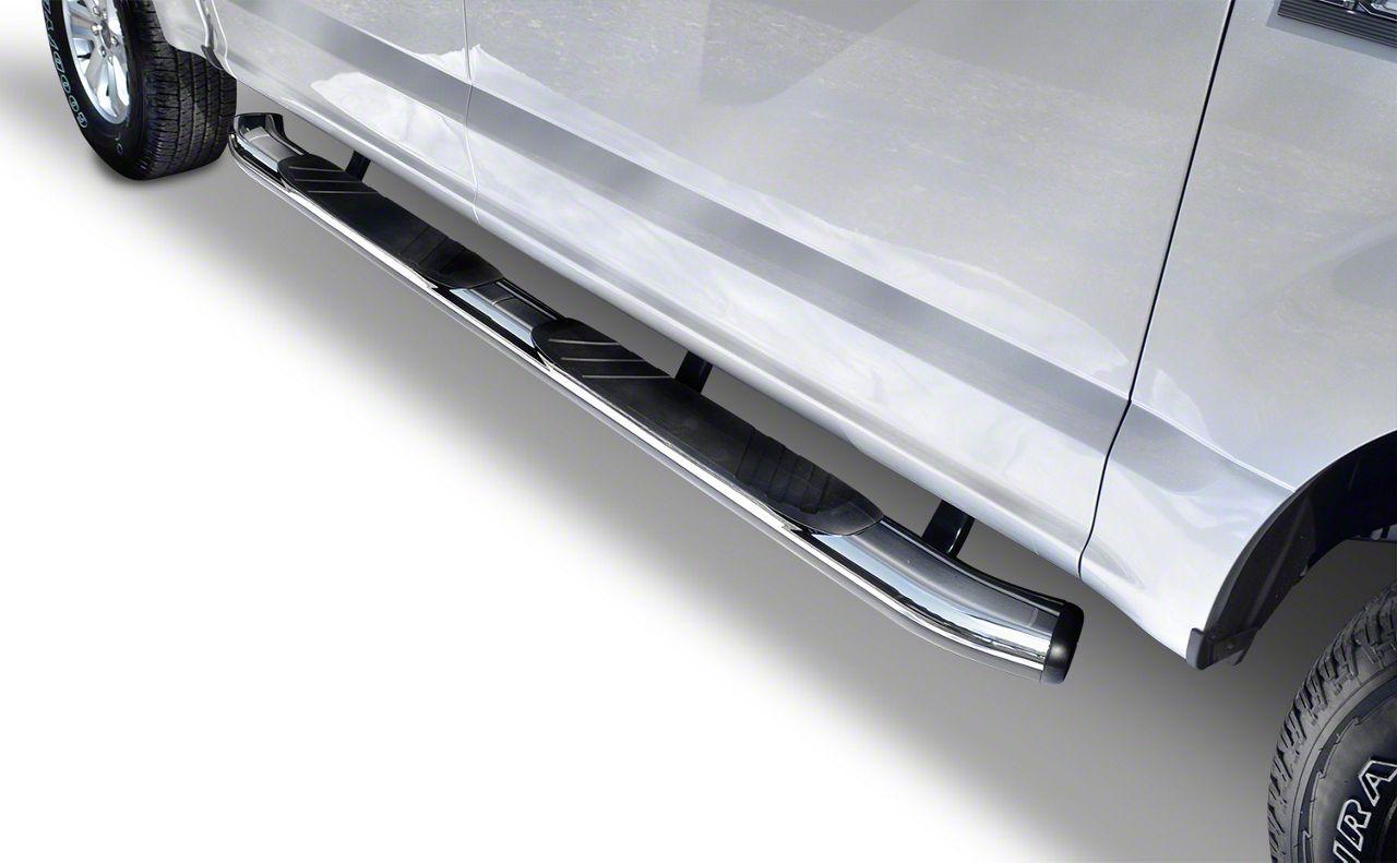 Go Rhino 5 in. OE Xtreme Composite Side Step Bars - Chrome (15-19 F-150 SuperCrew)