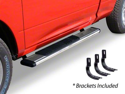 Go Rhino 5 in. OE Xtreme Low Profile Side Step Bars - Stainless Steel (04-14 F-150 SuperCab)
