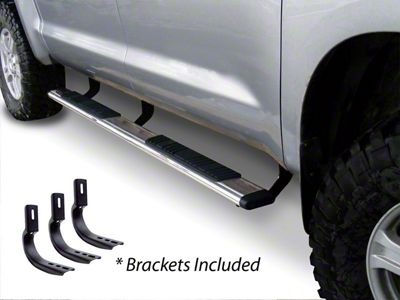 Go Rhino 5 in. OE Xtreme Low Profile Side Step Bars - Stainless Steel (15-19 F-150 SuperCab)