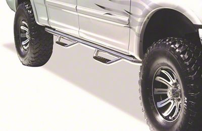 Go Rhino Dominator D2 Cab Length Side Step Bars - Stainless Steel (04-14 F-150 SuperCab)