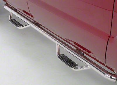 Go Rhino Dominator D2 Cab Length Side Step Bars - Stainless Steel (15-19 F-150 SuperCab)