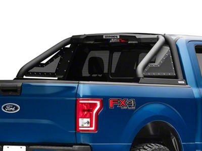 Go Rhino Sport Bar 2.0 Roll Bar w/ Power Actuated Retractable Light Mount - Textured Black (15-19 F-150)