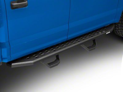 Go Rhino RB20 Running Boards w/ Drop Steps - Black Bedliner Coating (15-19 F-150 SuperCrew)
