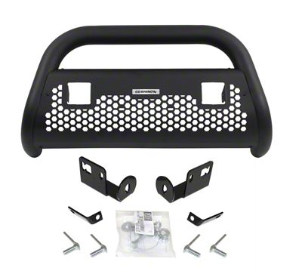 Go Rhino RC2 LR Bull Bar w/ Two LED Cube Light Mounting Brackets - Textured Black (04-08 F-150)