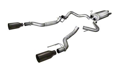 Corsa 3 in. Sport Dual Exhaust System w/ Black Tips - Rear Exit (17-19 F-150 Raptor)