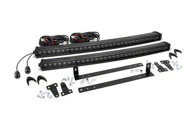 Rough Country 30 in. Black Series LED Light Bar Grille Kit - 2 Light (13-14 F-150, Excluding Raptor)