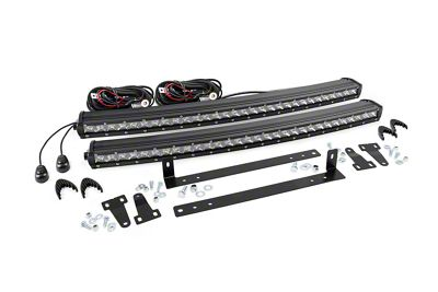 Rough Country 30 in. Chrome Series LED Light Bar Grille Kit - 1 Light (13-14 F-150, Excluding Raptor)