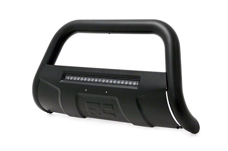 Rough Country Bull Bar w/ 20 in. Black Series LED Light Bar - Black (97-03 F-150)