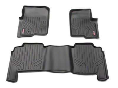 Rough Country Heavy Duty Front & Rear Floor Mats - Black (04-08 F-150 SuperCrew)
