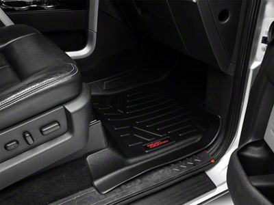 Rough Country Heavy Duty Front & Rear Floor Mats - Black (09-14 F-150 SuperCrew)