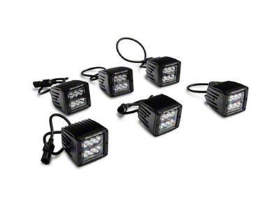 Rough Country Triple LED Fog Light Kit (17-19 F-150 Raptor)