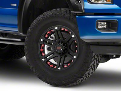Tuff A.T. T01 Flat Black w/ Red Inserts 6-Lug Wheel - 18x9 (04-19 F-150)