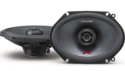 Alpine R-Series 6x8 in. Coaxial 2-Way Speakers - 100W (97-14 F-150)