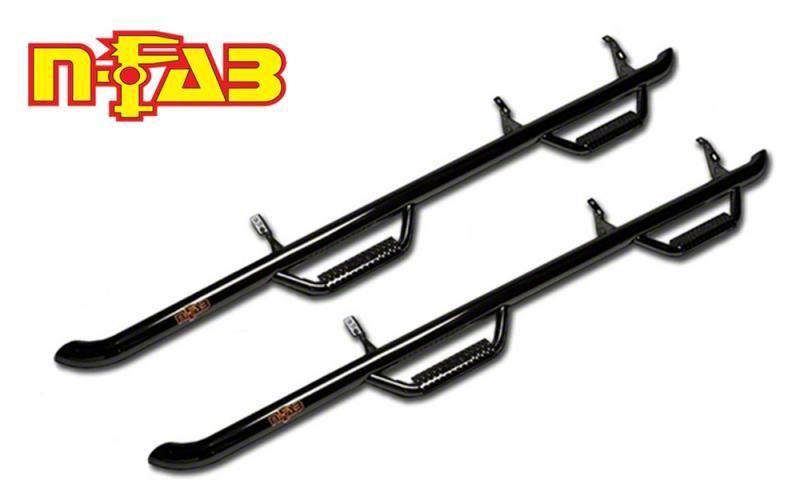 N-Fab Cab Length Nerf Side Step Bars - Gloss Black (15-19 F-150 SuperCab, Excluding Raptor)