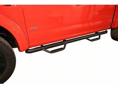 N-Fab Cab Length Nerf Side Step Bars - Textured Black (15-18 F-150 SuperCab)