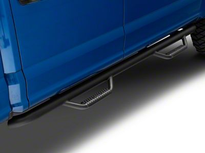 N-Fab Cab Length Nerf Side Step Bars - Textured Black (15-19 F-150 SuperCrew)