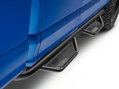 N-Fab Cab Length Podium Nerf Side Step Bars - Textured Black (15-18 F-150 SuperCab)