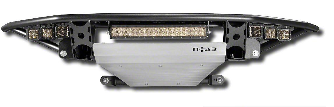 N-Fab RDS Radius Pre-Runner Front Bumper w/ Gloss Black Skid Plate - Gloss Black (09-14 F-150, Excluding Raptor)