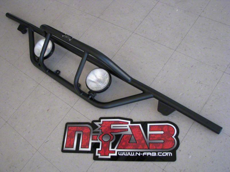 N-Fab Rear Runner Light Mount Bar - Gloss Black (04-08 F-150)