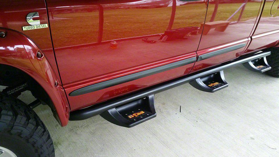 N-Fab Wheel 2 Wheel N-Durastep Side Step Bars - Semi-Gloss Black (15-18 F-150 SuperCrew w/ 5.5 ft. Bed)