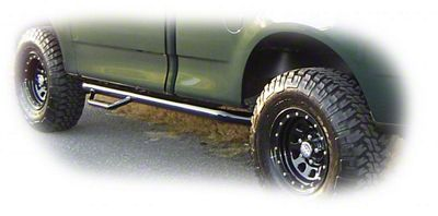 N-Fab Wheel 2 Wheel Nerf Side Step Bars - Textured Black (09-14 F-150 Regular Cab w/ 6.5 ft. Bed)