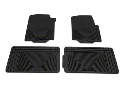 Weathertech All Weather Front & Rear Rubber Floor Mats - Black (04-08 F-150 SuperCab, SuperCrew)