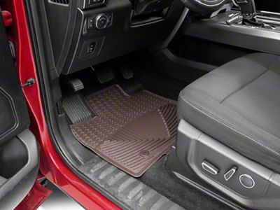 Weathertech All Weather Front & Rear Rubber Floor Mats - Cocoa (15-19 F-150 SuperCrew)