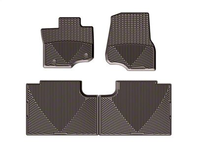 Weathertech All Weather Front & Rear Rubber Floor Mats - Cocoa (15-19 F-150 SuperCab)