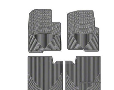 Weathertech All Weather Front & Rear Rubber Floor Mats - Gray (11-14 F-150 SuperCrew)