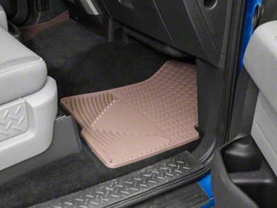 Weathertech All Weather Front & Rear Rubber Floor Mats - Tan (11-14 F-150 SuperCab)