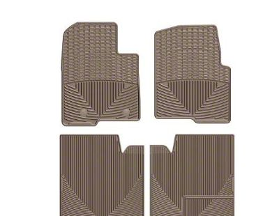 Weathertech All Weather Front & Rear Rubber Floor Mats - Tan (11-14 F-150 SuperCrew)