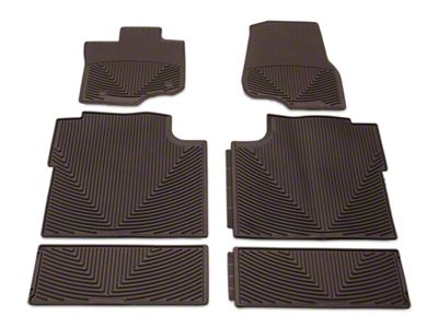 Weathertech All Weather Front, Rear & Under Rear Seat Rubber Floor Mats - Cocoa (15-19 F-150 SuperCrew)