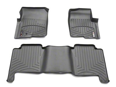 Weathertech DigitalFit Front & Rear Floor Mats - Black (04-08 F-150 SuperCrew)