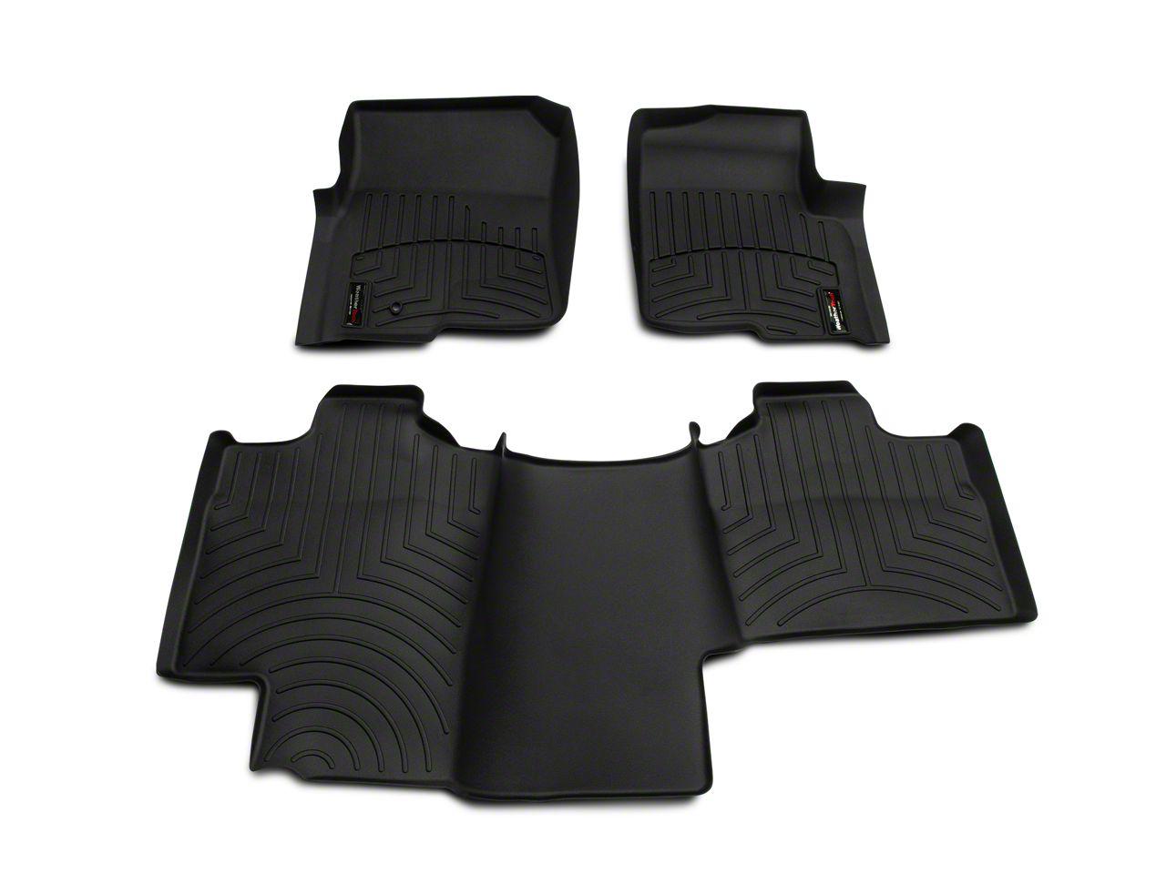 Weathertech DigitalFit Front & Rear Floor Liners - Black (04-08 F-150 SuperCab)