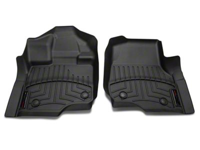 Weathertech DigitalFit Front & Rear Floor Liners - Black (15-19 F-150 SuperCrew w/ Vinyl Floors)