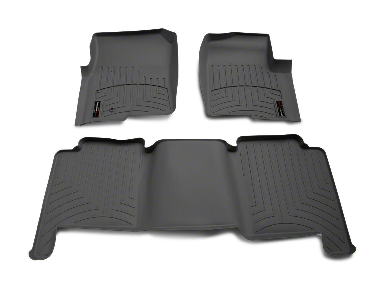 Weathertech DigitalFit Front & Rear Floor Liners - Gray (04-08 F-150 SuperCrew)