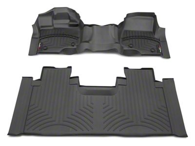 Weathertech DigitalFit Front Over the Hump & Rear Floor Liners - Black (15-19 F-150 SuperCab)