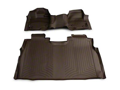 Weathertech DigitalFit Front & Rear Floor Liners - Over The Hump - Cocoa (15-19 F-150 SuperCrew)